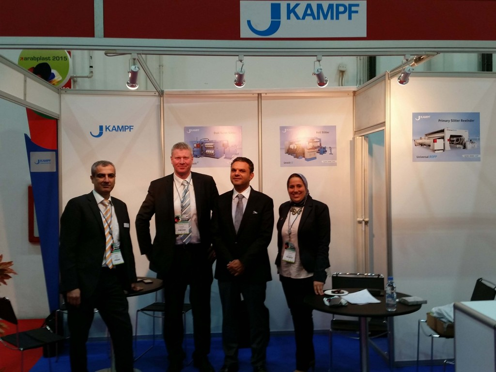 The KAMPF Team at Arabplast 2015 expressed satisfaction