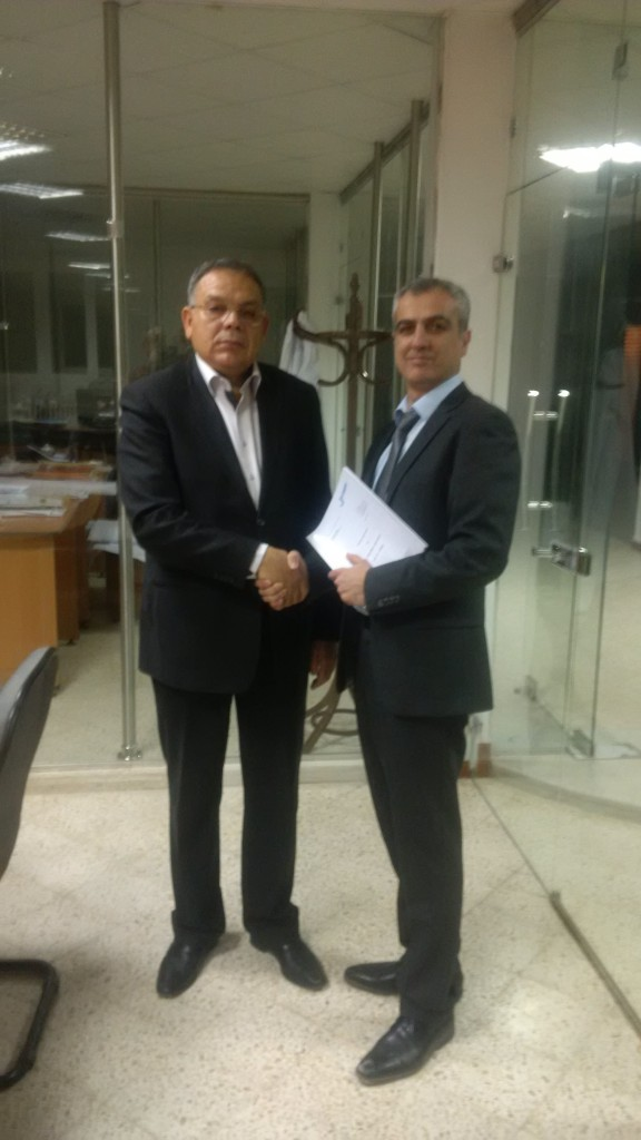 (KAMPF) Abdelhak Ouzzir, Director Metaplast and Amir Rezai, Sales Manager KAMPF