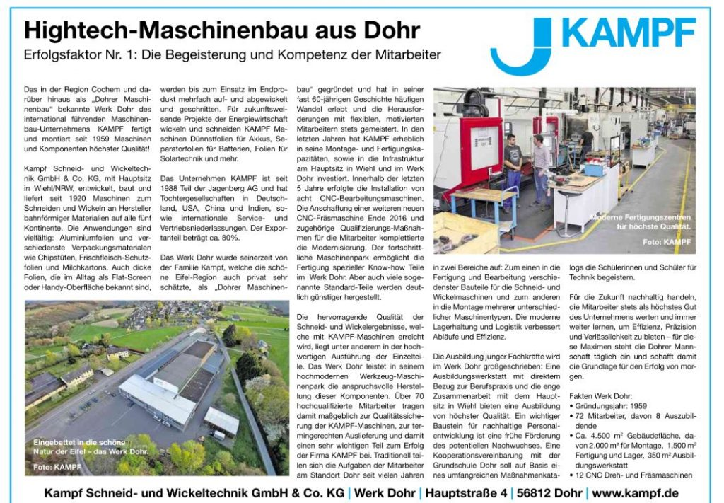 High-tech-maschinbau aus Dohr