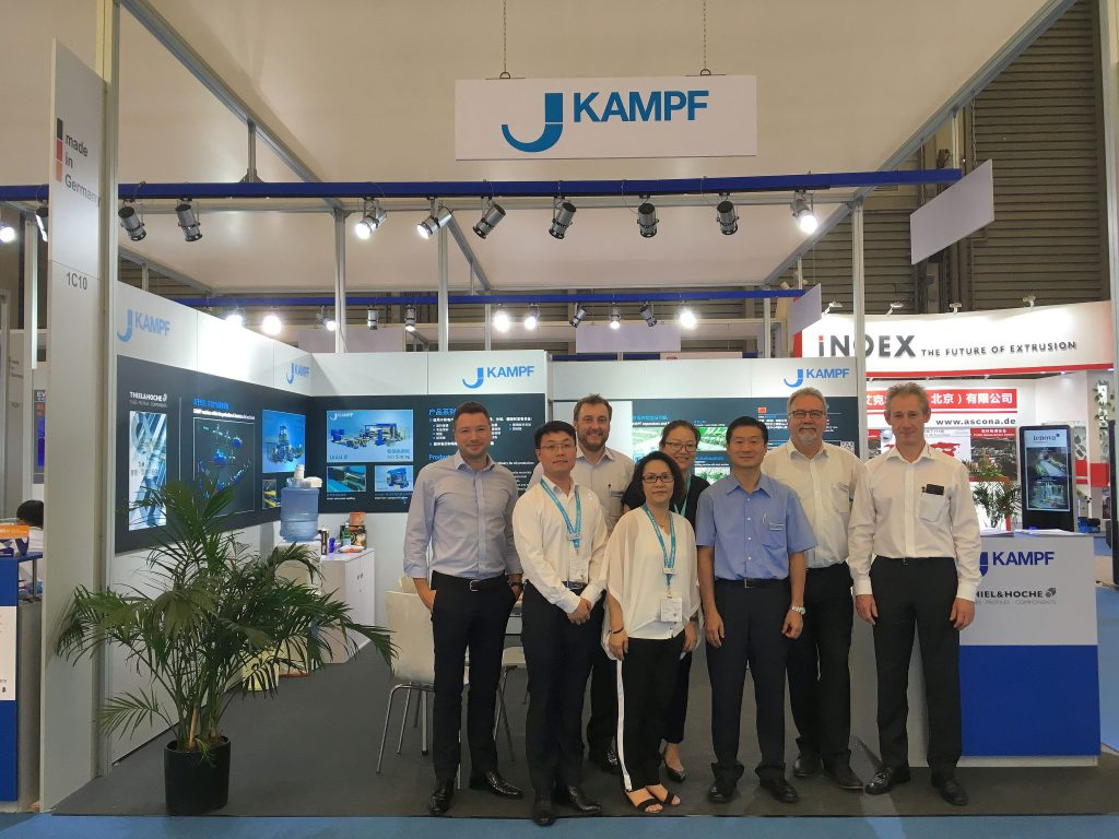 The KAMPF team on the aluminum China 2017